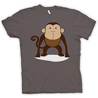 تي شيرت رجالي--أنا أحب القرود-حيوان لطيف