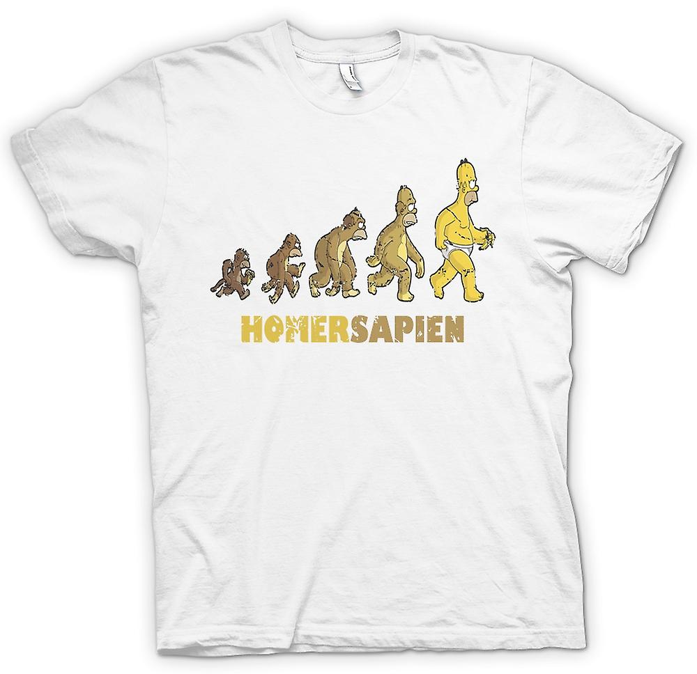 Mens T-shirt - Homersapien - Evolution von Homer