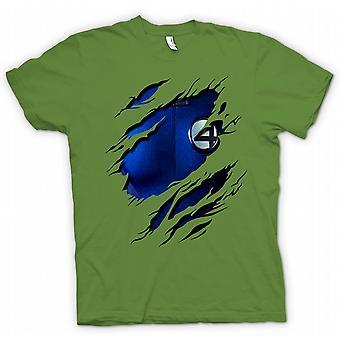 Womens T-shirt - Reed richards Mr Fantastic - Fantastic 4 Costume - Superhero Ripped Design