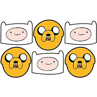Jake and Finn Adventure Time Party Card Face Mask Value Pack of 6