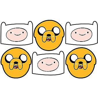 Jake und Finn Abenteuer Zeit Partei Karte Gesicht Maske Wert 6er Pack