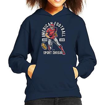 American Football Sport Division Kid's Hooded Sweatshirt
