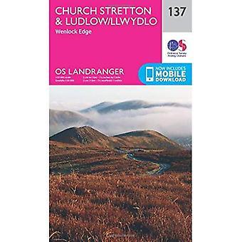 Landranger (137) Ludlow & Church Stretton, Wenlock Edge (OS Landranger Map)