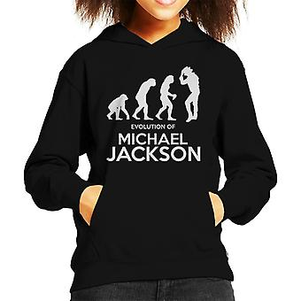 Evolutie van Michael Jackson Kid's Hooded Sweatshirt