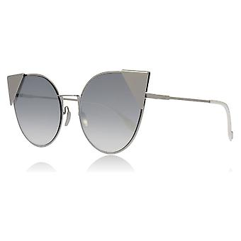 Fendi FF0190/S 010 Palladium FF0190/S Cats Eyes Sunglasses Lens Category 2 Lens Mirrored Size 57mm