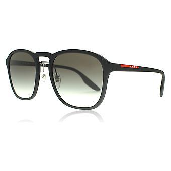 Prada Sport PS02SS DG00A7 Black Rubber PS02SS Round Sunglasses Lens Category 2 Size 55mm