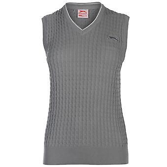 Slazenger Womens Cable Knit Vest Ladies
