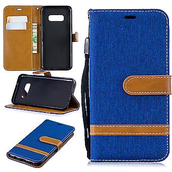 Samsung Galaxy S10e phone case protective bag case cover pouch wallet card holder Blue