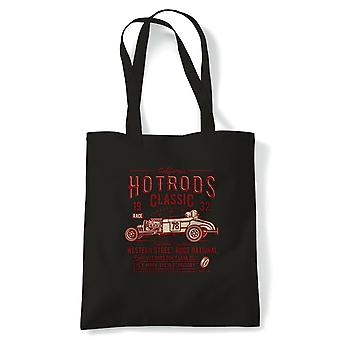 Hot Rod Race Classic | Funny Tote Bag |Looking Good Old Handsome Hotrod Classic Racer Race Confidence Hot Rod Car | Multiple Colours Available