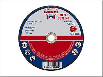 Faithfull Cut Off Disc for Metal 230 x 3.2 x 22mm