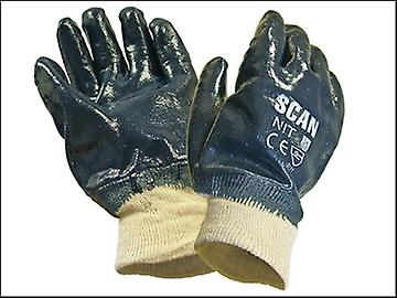 Scan Nitrile Knitwrist Heavy-Duty Gloves