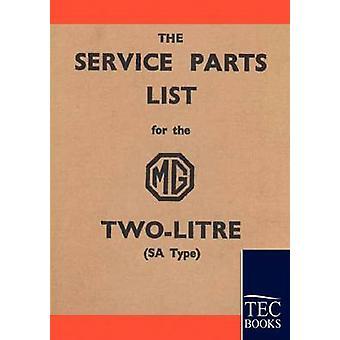 Service Stückliste für das MG TwoLitre von Anonym & Anonym