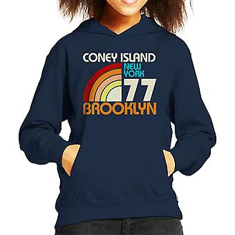 Coney Island Retro 77 Kid's Hooded Sweatshirt