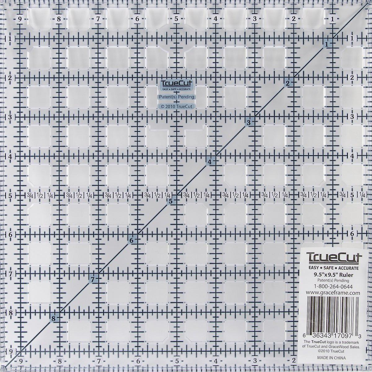TrueCut Ruler-9-1 2& 034;X9-1 2