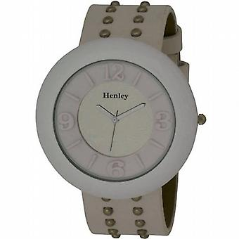 Henley Glamour Ladies blanc miroir Watch clouté