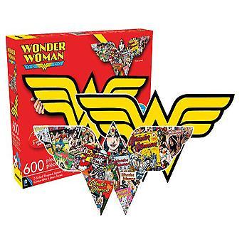 Wonder Woman logo et collage double face 600pc puzzle
