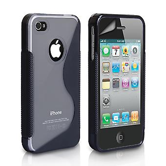 YouSave Accessories iPhone 4 4S SLine Gel Case BlackClear