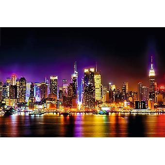 Affisch-Studio B-Manhattan Skyline-reflektioner 36x24