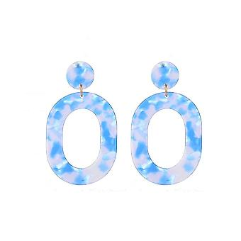 Jewelcity Sunkissed Womens/Ladies Oval Circle Earrings