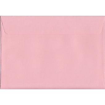 Baby Pink Peel/Seal C6/A6 Coloured Pink Envelopes. 120gsm FSC Sustainable Paper. 114mm x 162mm. Wallet Style Envelope.