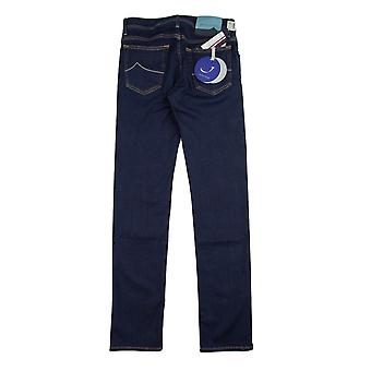 Jacob Cohen J688 Sky Blue Patch Jeans Dark Indigo
