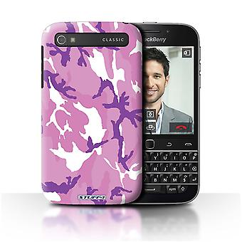 STUFF4/Housse pour Blackberry Classic/Q20/Rose 4/Camouflage Army Navy