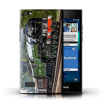 STUFF4 Case/Cover for Blackberry Leap/Tornado/Green/Steam Locomotive