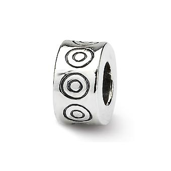 925 Sterling Silver Polished Antique finish Reflections SimStars Circles Bali Bead Charm
