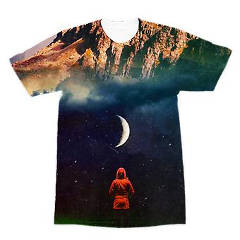 Moon on earth premium sublimation adult t-shirt