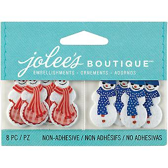 Jolee's Boutique Seasonal Embellishments Snowman And Snow Woman E5000636