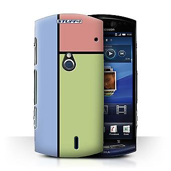 STUFF4 Case/Cover for Sony Xperia Neo/MT15i/3 Tiles/Green/Pastel Tiles