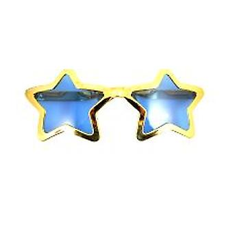 Jumbo-Sized Star Shaped Specs Assorted Metallic Colours (1)