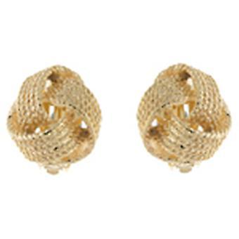 Clip auf Ohrringe Shop Gold Seil Knoten Runde Clip auf Ohrringe