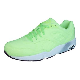Puma R698 Bright Trinomic Mens Trainers / Shoes - Green