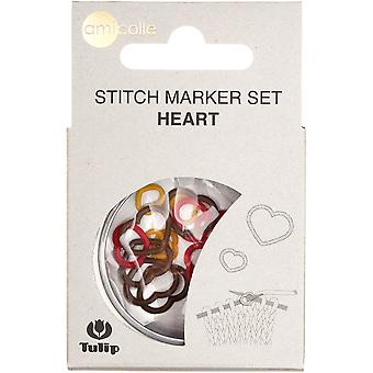 Tulip Stitch Markers 15/Pkg-Yellow-Small/Red-Medium/Brown-Large AC0-16E