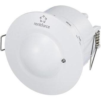 Recess-mount, Ceiling HF motion detector Renkforce 1362920 360 ° White IP20
