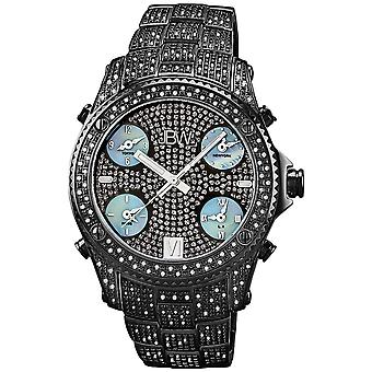 JBW diamond men's stainless steel watch JET SETTER - black