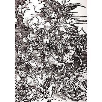 Czterech Jeźdźców Apokalipsy Poster Print przez Albrecht Durer