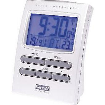 Balance Radio-Controlled Alarm Clock Colour LCD Display Silver