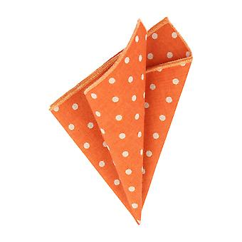 Snobbop Orange handkerchief with white dots handkerchief Cavalier cloth