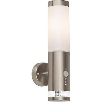Outdoor wall light (+ motion detector) HV halogen E27 60 W Brilliant Bole G96131/82 Stainless steel