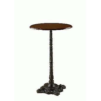 Lira Cast Iron And Wood Poseur Table - Round