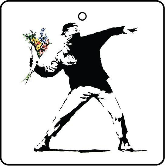 Banksy Flowerchucker Car Air Freshener