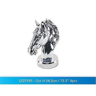 Idea regalo di Display Figurine ornamento decorativo busto di cavallo d'argento di arte di 13.5