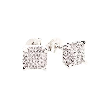 925 Silver MICRO PAVE earrings - PURE 6 mm