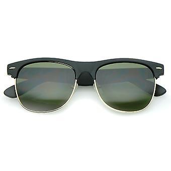Classic in gomma finitura metà telaio quadrato lente corno montatura occhiali da sole 55mm