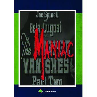 Maniac Vanishes Part II [DVD] USA import