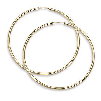 14K Gold Hoop Earrings - 2 1/8