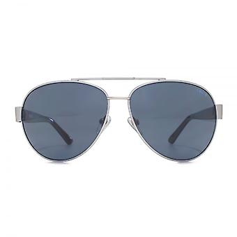 Levis Pilot Sunglasses In Matte Silver Polarised