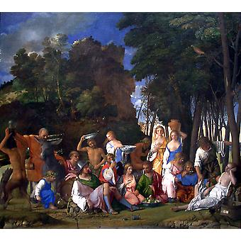 Titian - The Feast of the Gods-1514 1529 Poster Print Giclee